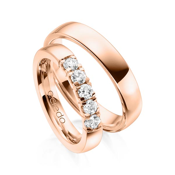 Memoire-Ring Rotgold 585 mit 0,55 ct. tw, vs
