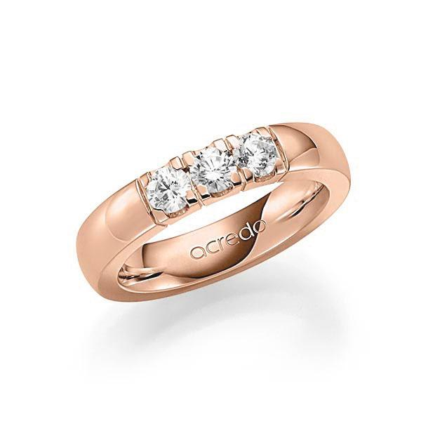 Memoire-Ring Rotgold 585 mit 0,6 ct. tw, vs