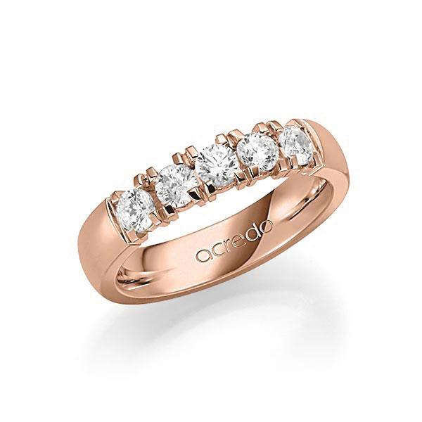 Memoire-Ring Rotgold 585 mit 0,75 ct. tw, vs
