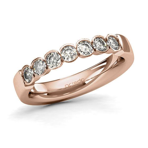 Memoire-Ring Rotgold 585 mit 0,7 ct. tw, si