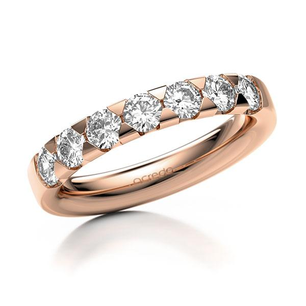 Memoire-Ring Rotgold 585 mit 1,05 ct. tw, si
