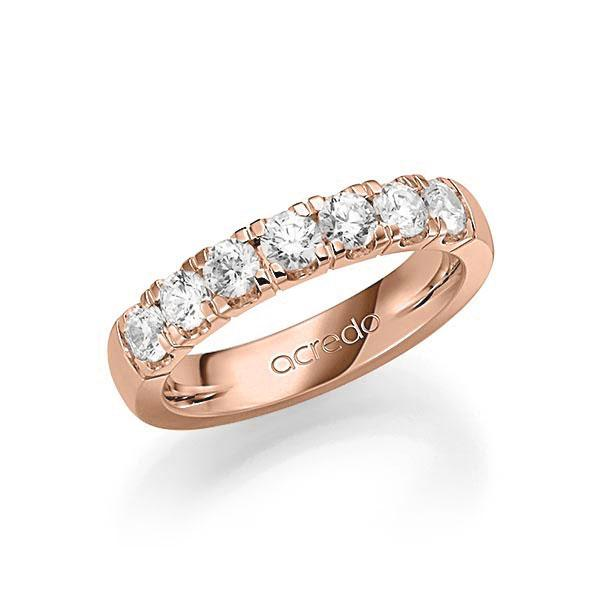 Memoire-Ring Rotgold 585 mit 1,05 ct. tw, vs