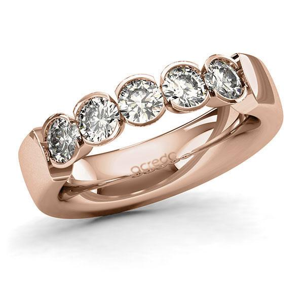 Memoire-Ring Rotgold 585 mit 1,25 ct. tw, si