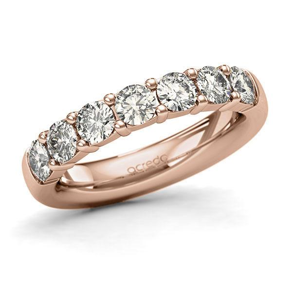 Memoire-Ring Rotgold 585 mit 1,4 ct. tw, si