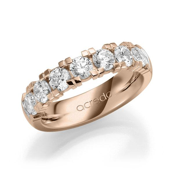 Memoire-Ring Rotgold 585 mit 1,75 ct. tw, vs