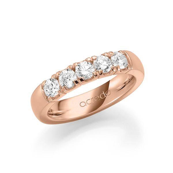 Memoire-Ring Rotgold 585 mit 1 ct. tw, vs