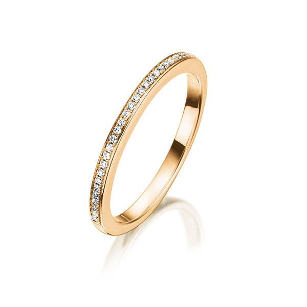 Memoire-Ring Rotgold 750