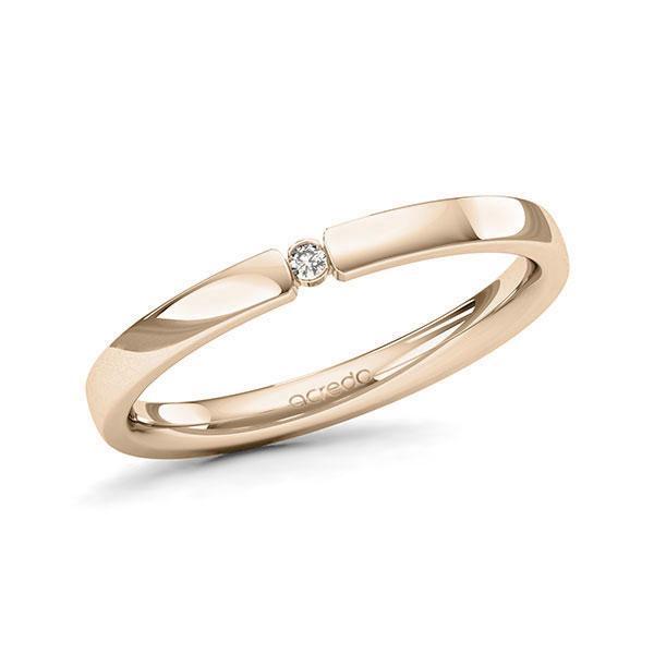 Memoire-Ring Signature Gold 585 mit 0,015 ct. tw, si