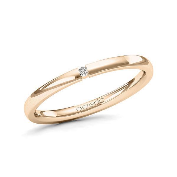 Memoire-Ring Signature Gold 585 mit 0,015 ct. tw, vs
