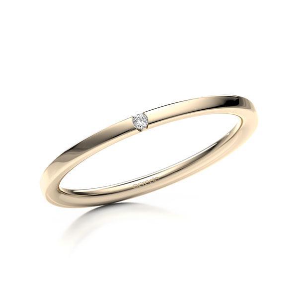 Memoire-Ring Signature Gold 585 mit 0,01 ct. tw, si
