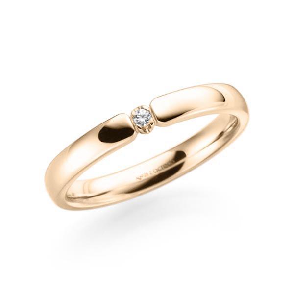 Memoire-Ring Signature Gold 585 mit 0,01 ct. tw, vs