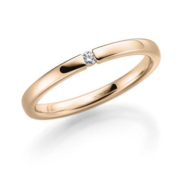 Memoire-Ring Signature Gold 585 mit 0,02 ct. tw, vs