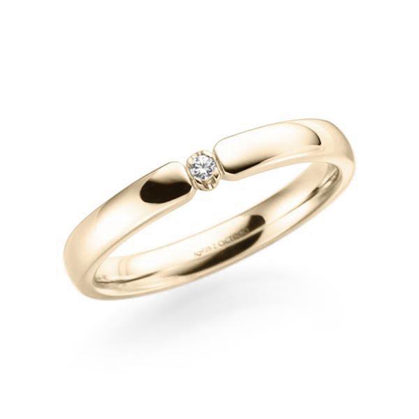 Memoire-Ring Signature Gold 585 mit 0,03 ct. tw, vs