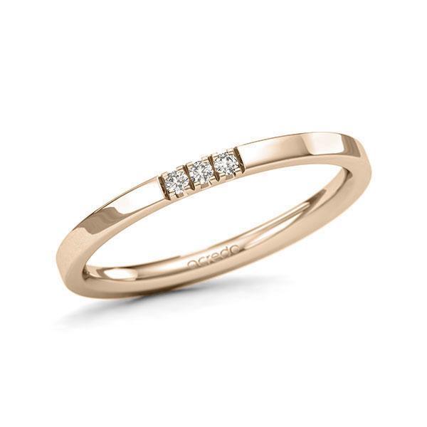 Memoire-Ring Signature Gold 585 mit 0,045 ct. tw, si