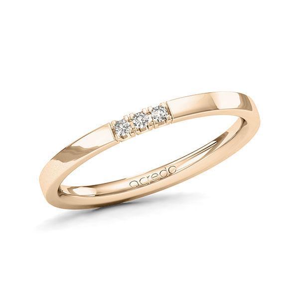 Memoire-Ring Signature Gold 585 mit 0,045 ct. tw, vs