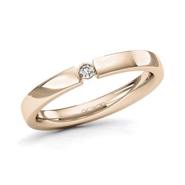 Memoire-Ring Signature Gold 585 mit 0,04 ct. tw, si