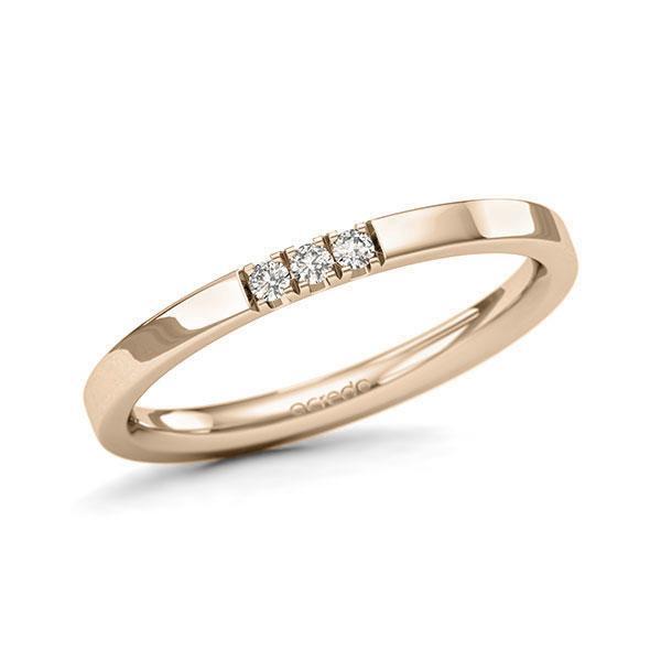 Memoire-Ring Signature Gold 585 mit 0,06 ct. tw, si
