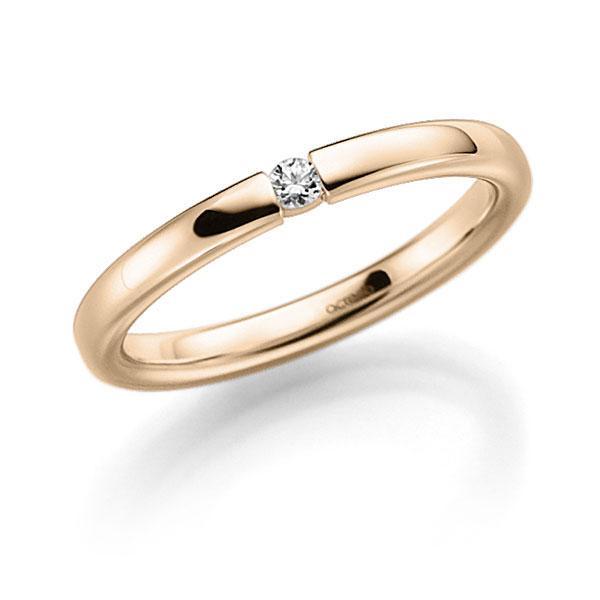 Memoire-Ring Signature Gold 585 mit 0,06 ct. tw, vs