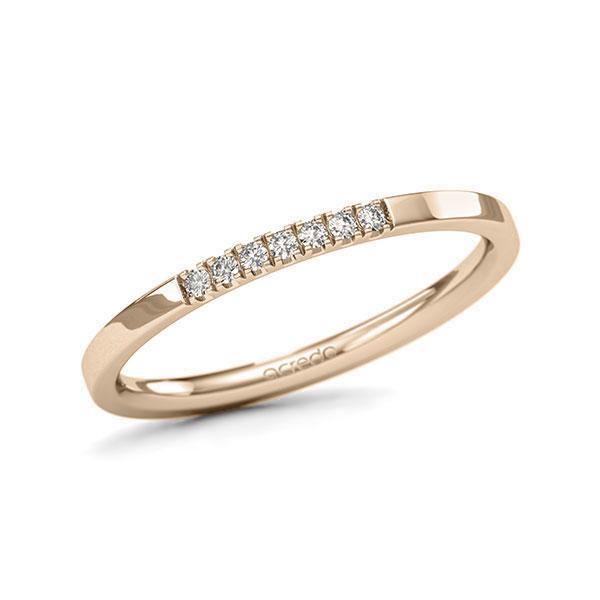 Memoire-Ring Signature Gold 585 mit 0,07 ct. tw, si