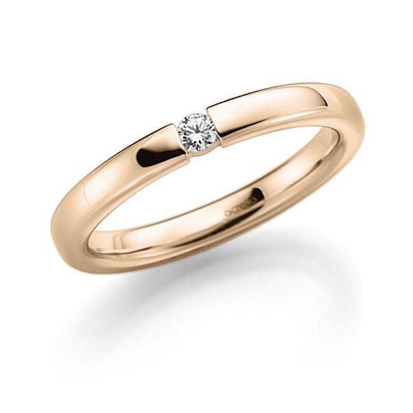 Memoire-Ring Signature Gold 585 mit 0,08 ct. tw, vs