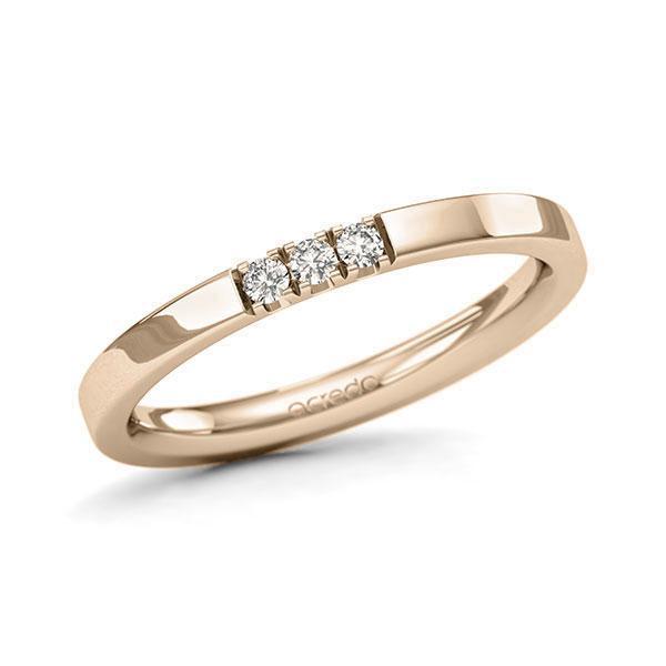 Memoire-Ring Signature Gold 585 mit 0,09 ct. tw, si