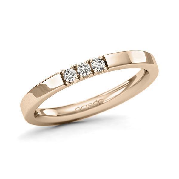 Memoire-Ring Signature Gold 585 mit 0,12 ct. tw, si