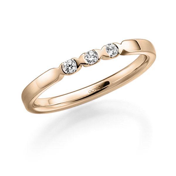 Memoire-Ring Signature Gold 585 mit 0,12 ct. tw, vs