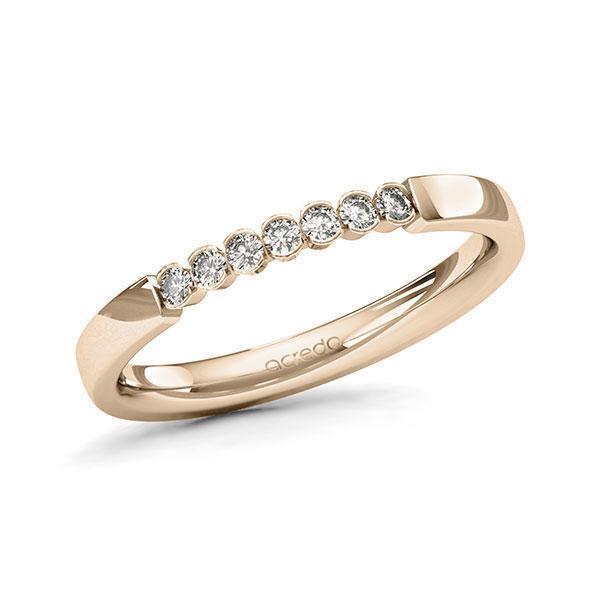 Memoire-Ring Signature Gold 585 mit 0,14 ct. tw, si