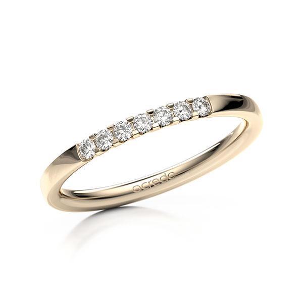 Memoire-Ring Signature Gold 585 mit 0,14 ct. tw, vs