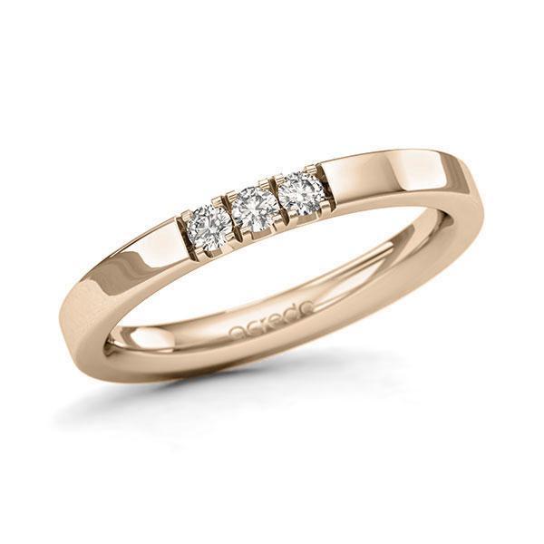Memoire-Ring Signature Gold 585 mit 0,15 ct. tw, si