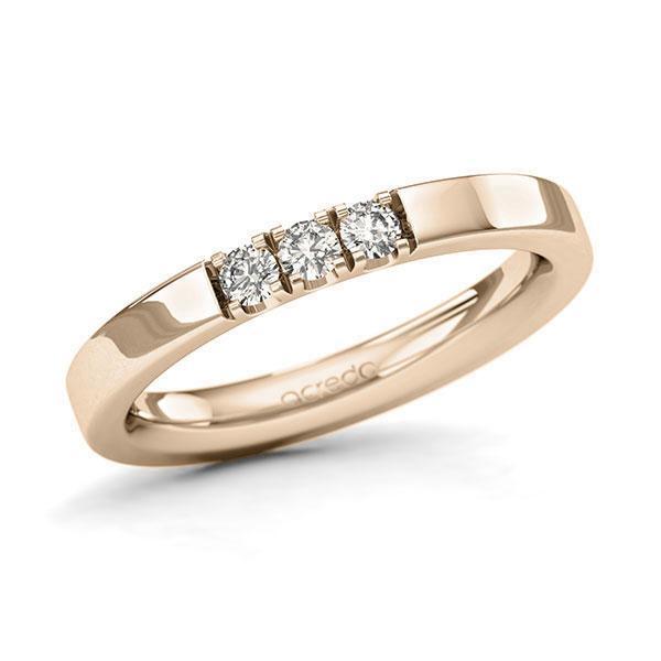 Memoire-Ring Signature Gold 585 mit 0,18 ct. tw, si