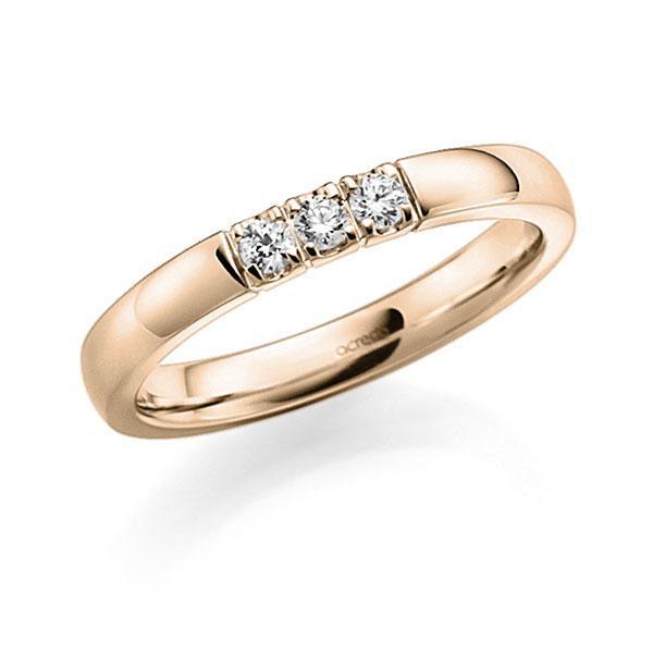 Memoire-Ring Signature Gold 585 mit 0,18 ct. tw, vs