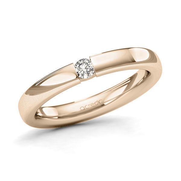 Memoire-Ring Signature Gold 585 mit 0,1 ct. tw, si