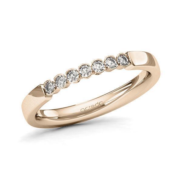Memoire-Ring Signature Gold 585 mit 0,21 ct. tw, si