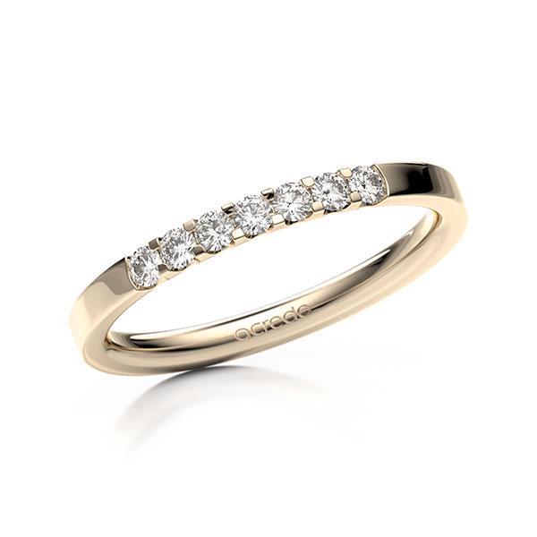 Memoire-Ring Signature Gold 585 mit 0,21 ct. tw, vs