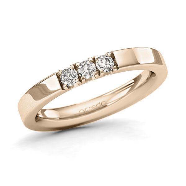 Memoire-Ring Signature Gold 585 mit 0,24 ct. tw, si