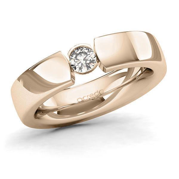 Memoire-Ring Signature Gold 585 mit 0,25 ct. tw, si