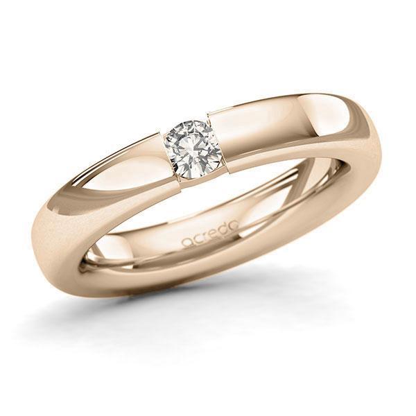 Memoire-Ring Signature Gold 585 mit 0,2 ct. tw, si