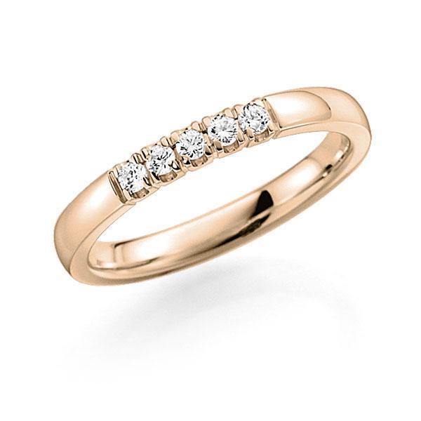 Memoire-Ring Signature Gold 585 mit 0,2 ct. tw, vs