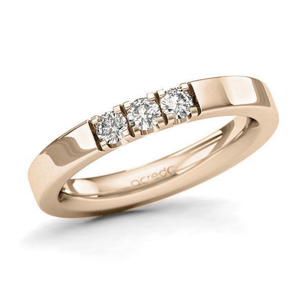 Memoire-Ring Signature Gold 585 mit 0,3 ct. tw, si