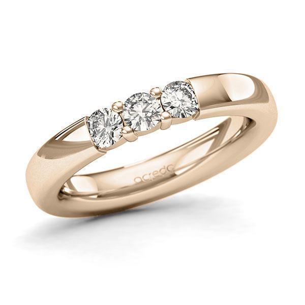 Memoire-Ring Signature Gold 585 mit 0,45 ct. tw, si