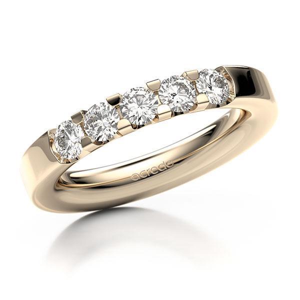Memoire-Ring Signature Gold 585 mit 0,75 ct. tw, vs