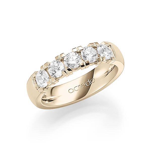 Memoire-Ring Signature Gold 585 mit 1,25 ct. tw, vs