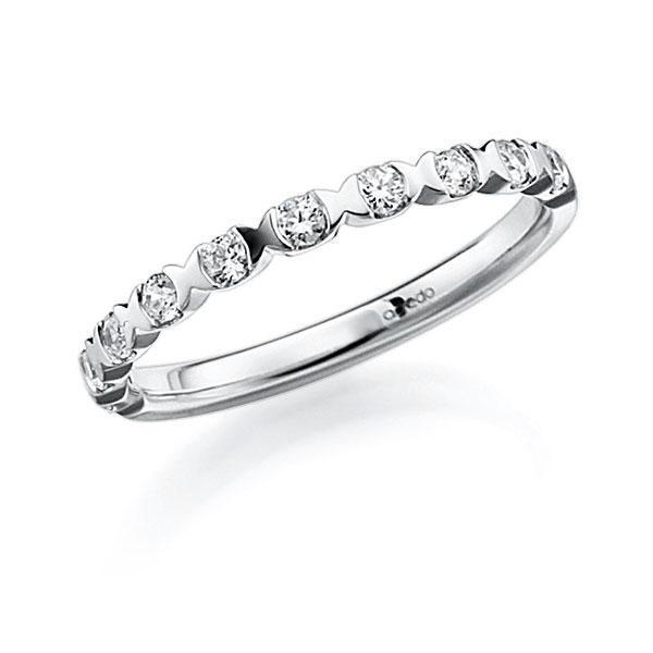 Memoire-Ring Weißgold 585