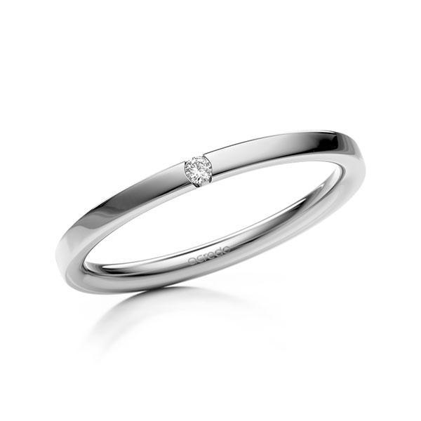 Memoire-Ring Weißgold 585 mit 0,02 ct. tw, si
