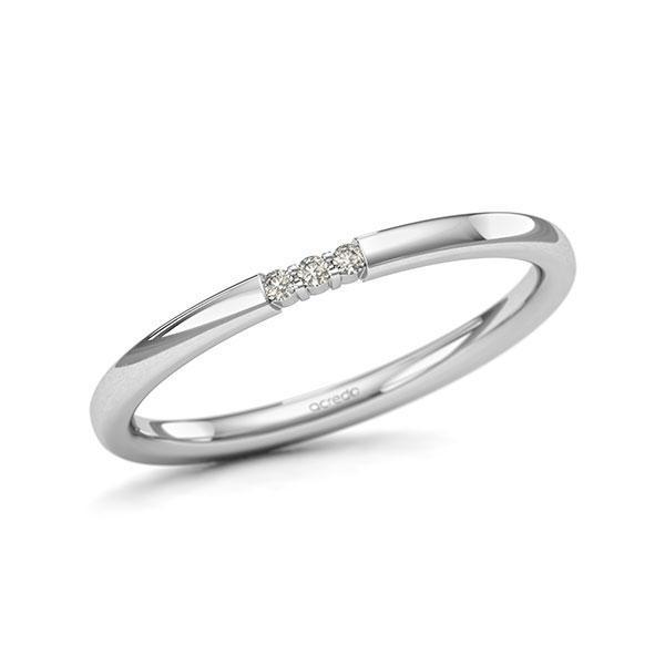 Memoire-Ring Weißgold 585 mit 0,03 ct. tw, si