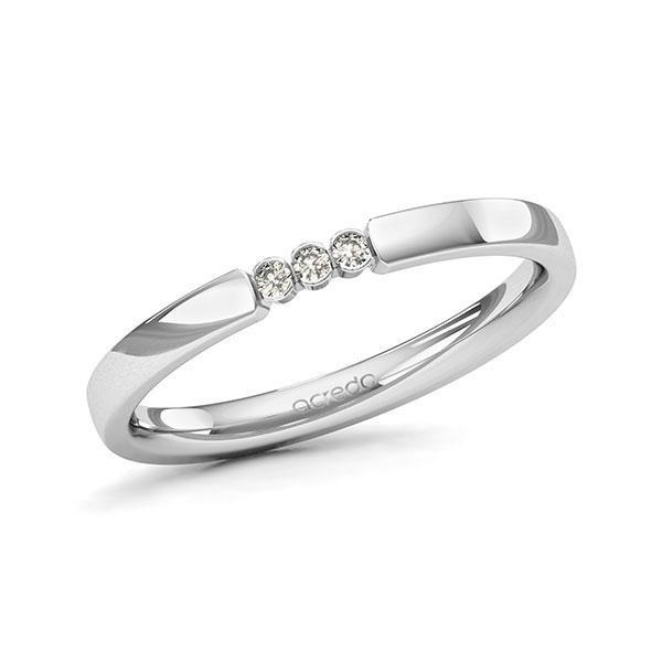 Memoire-Ring Weißgold 585 mit 0,045 ct. tw, si