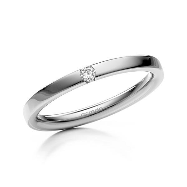 Memoire-Ring Weißgold 585 mit 0,04 ct. tw, si