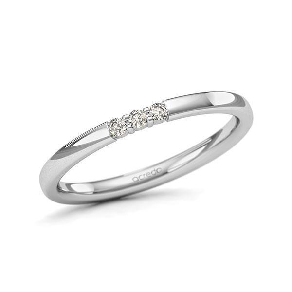 Memoire-Ring Weißgold 585 mit 0,06 ct. tw, si
