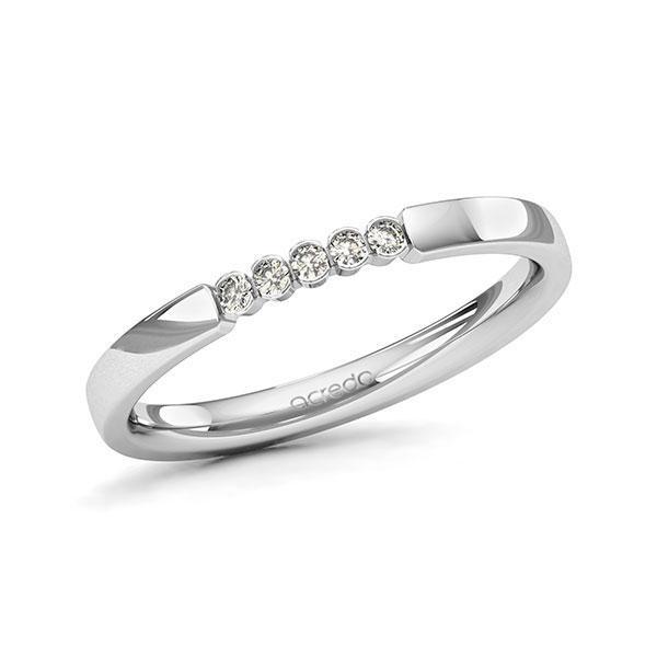 Memoire-Ring Weißgold 585 mit 0,075 ct. tw, si
